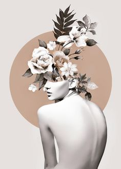 Bloom 8 Mini Art Print by Collage Design, Collage Art, Collages, Collage Illustration, Modern Art Prints, Graphic Design Posters, Grafik Design, Surreal Art, Aesthetic Art