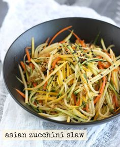 Zucchini Slaw with Japanese Seven Spice Dressing by SeasonWithSpice.com