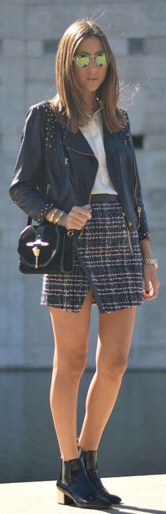 #tweed #skirt by Silvia's closet