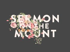 Sermon On The Mount Title Design by John David Harris