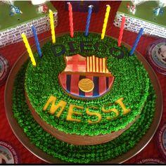Barcelona Soccer Cake by Art de Chocolat TX Soccer Cakes, Barcelona Soccer, Soccer Quotes, Diy Projects To Try, Sweet Treats, Birthday Cakes, Cake Ideas, Breathe, Jr