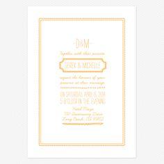 Keep it Simple Wedding Invitations www.lovevsdesign.com Choice #3