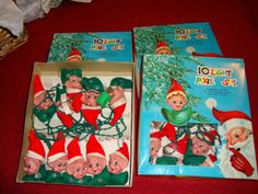 Vintage 3 Christmas Lights Elf Pixie Light Sets in Box Set of 10 Works | eBay