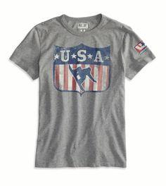 AE USA Snowboard T-Shirt #USA #Olympics