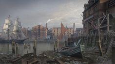 Thames, Dmitry Kremiansky on ArtStation at https://www.artstation.com/artwork/Ra84X