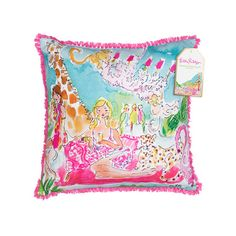 Adorn your space with perfectly printed and detailed pillows suitable for any Lilly lover. - Coordinating design on back side - Weather resistant fabric for indoor/outdoor use - Fiber is 100% polyeste