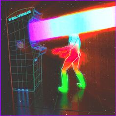 Dualvoidanima, a surreal aesthetic directly inspired by the eighties. Aesthetic Gif, Aesthetic Videos, Aesthetic Wallpapers, Aesthetic Outfit, Rainbow Aesthetic, Aesthetic Painting, Aesthetic Fashion, Neon Background, Rainbow Gif