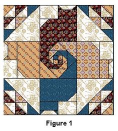 QuiltZine Presents Twisted Tails Mystery Quilt - Chapter Five free Quilt Patterns from Quiltzine