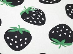 French Terry Knit Fabric Strawberry Black By The Yard by BonitaFabric on Etsy https://www.etsy.com/listing/167045960/french-terry-knit-fabric-strawberry
