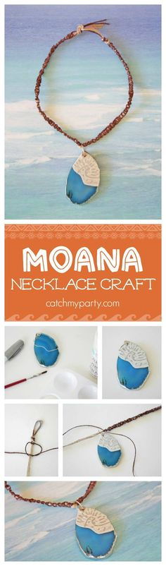 Here\'s a great Moana party activity or Moana craft for you to do with your kids! See more party ideas at catchmyparty.com!