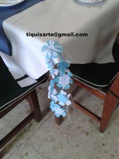 TiquisArte: Primera comunión Hanukkah, Wreaths, Home Decor, Blue And White, Blue Nails, First Holy Communion, Decoration Home, Door Wreaths, Room Decor