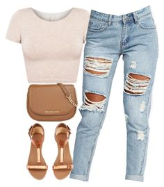 """...."" by justice-ellis ❤ liked on Polyvore featuring American Apparel, Boohoo, H&M and MICHAEL Michael Kors"