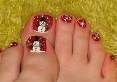 Amazing Christmas Toe Nail Art Designs & Ideas For Beginners & Learners 2013/ 2014