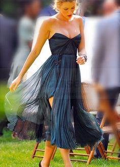 Gossip Girl Sexy Strapless Chiffon Celebrity Dresses    it