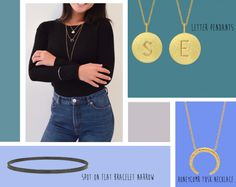 Styling by sofiemwe showing Letter Pendant S Gold, Letter Pendant E Gold, Spot on Flat Bracelet Narrow Grey Rhodium Small  and Honeycomb tusk Necklace Gold #jewellery #Jewelry #bangles #amulet #dogtag #medallion #choker #charms #Pendant #Earring #EarringBackPeace #EarJacket #EarSticks #Necklace #Earcuff #Bracelet #Minimal #minimalistic #ContemporaryJewellery #zirkonia #Gemstone #JewelleryStone #JewelleryDesign #CreativeJewellery #OxidizedJewellery #gold #silver #rosegold #hoops #armcuff…