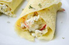 Dit recept voor frisse omeletrolletjes met appel en cottage cheese is ideaal! Koolhydraatarm, bomvol met goede eiwitten: perfect om de dag mee te beginnen! - Blij Suikervrij