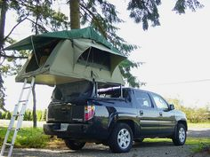 Roof Top Tent on Truck Bed
