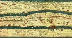Cette carte s'appelle la Table de Peutinger ( ou Tabula Peutingeriana ou Peutingeriana Tabula Itineraria ou encore Carte des étapes de Castorius … ), c'est une copie du XIIIe siècle d'une ancienne carte romaine où sont représentés les routes et les principales villes de l'Empire romain.
