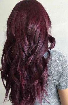 Dark Red Hair Burgundy, Red Brown Hair Color, Shades Of Red Hair, Dark Maroon Hair, Violet Red Hair Color, Plum Purple Hair, Plum Hair Colors, Brown Hair Dyed Red, Dark Red Hair With Brown