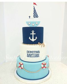 A nautical cake for Dimitri's Baptism ⛵