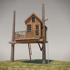 This structure is reminiscent of the Nelson kid's childhood treehouse. The structure takes the classic