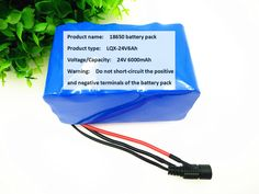 24V Battery Pack 25.2V 6Ah18650 Battery 6000mAh Rechargeable Battery For GPS Navigator/Camera/Golf Car/Electric Bike/LED/Light