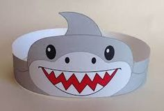 Image result for shark hat craft template