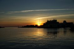 sunset silver lake harbor with ferry -Roxanne Slimak