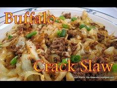 Low Carb Buffalo Crack Slaw:  Induction Friendly (IF).  Ground beef, onion powder, garlic powder, salt/pepper, cabbage, garlic, sesame oil,soy sauce, Frank's hot sauce, vinegar, Splenda, crushed red pepper (optional)