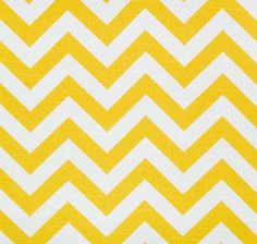 100% cotton yellow chevron will brighten up any room. Medium weighted home decor fabric. Sold by the metre $23.99/m.