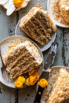 Coconut Pecan Caramel Butter Cake | halfbakedharvest.com Köstliche Desserts, Delicious Desserts, Yummy Treats, Sweet Treats, Yummy Food, Food Cakes, Cupcake Cakes, Cupcakes, Baking Recipes