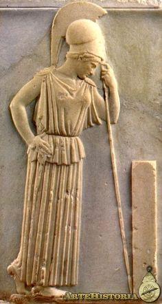 Atenea pensativa Autor: Autor Anónimo Fecha: 460 a.C. Museo: Museo de la Acrópolis de Atenas Características: 54 cm. altura Grecia Material: Mármol