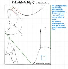 Kleidung um 1800: 'Short Stays' Studies - Schnürleib Studien  3 corset making tutorial for the Empire area (1810/1820 if I'm correct), translation in english provided