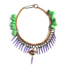 Purple Cone Kiss Necklace - Patricia Nicolás - Jewellery designer London