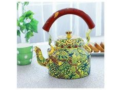 Fishes Tea Kettle - Yellow
