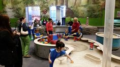 Continuing our journey to #RediscoveryPTM ..In our River Adventures exhibit, kids explore water behavior, basic engineering & mechanics. #LearningThroughPlay #Museumof1sts