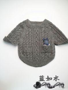 <a name='InnerLinkKeyWord' href='http://www.bianzhirensheng.com/t/49.html' target='_blank'>儿童</a>斗篷式<a name='InnerLinkKeyWord' href='http://www.bianzhirensheng.com/s/bangzhen-jichu.html' target='_blank'>棒针</a><a name='InnerLinkKeyWord' href='http://www.bianzhirensheng.com/s/maoyi.html' target='_blank'>毛衣</a>
