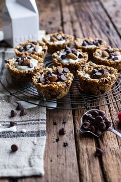 Oatmeal Chocolate Chip Cookie 'n' Milk Breakfast Cups | halfbakedharvest.com @hbharvest