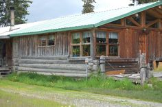 The log cabin my dad built when he homesteaded in Alaska.  Built by hand with trees on the property