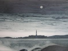 David Blackwood etching, The Fortress of Louisbourg, N.S., 1973, Artist Proof to edition of 50, 20 X 32 inches