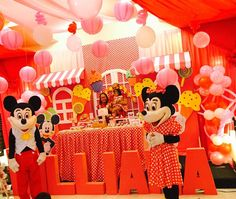 Minnie Mouse Theme Party, Mickey Mouse, Birthday Party Themes, Disney, Baby Mouse, Disney Art