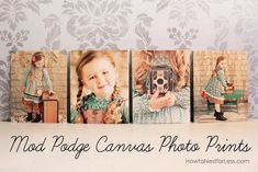 Mod Podge Canvas Prints Tutorial by How to Nest for Less Thank you card using sonogram photos