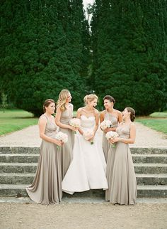 Putty ballgowns | twobirds Bridesmaid Dresses | A beautiful wedding featuring our multiway, convertible dresses. Congratulations, Sorcha and Gareth! | Photography: Inspired By Love Photography as seen on Wedding Sparrow