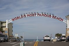 """The Worlds Most Famous Beach"", Daytona Beach, spans 23 miles of beaches."