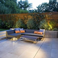 Contemporary Family Garden Design in St Johns Wood Designed and Constructed by The Garden Builders London Garden Design London, Formal Garden Design, Contemporary Garden Design, Modern Landscape Design, Landscape Plans, Contemporary Landscape, Contemporary Garden Furniture, Modern Backyard, Modern Landscaping