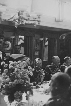 Nicholas II during a dinner held on the Russian Imperial Yacht Standart, 1909: