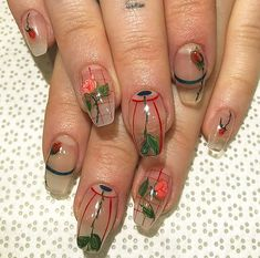 Nail art is a very popular trend these days and every woman you meet seems to have beautiful nails. It used to be that women would just go get a manicure or pedicure to get their nails trimmed and shaped with just a few coats of plain nail polish. Aycrlic Nails, Diy Nails, Cute Nails, Hair And Nails, Minimalist Nails, Nail Swag, Nail Design Glitter, Funky Nails, Nagel Gel