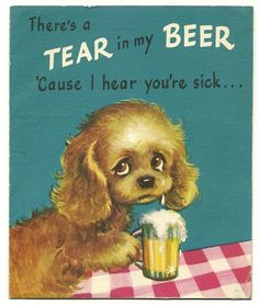 Old Vintage Get Well Card