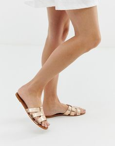 aeecce15e76 Simmi London Haven rose gold cut out slides
