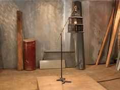 """However, Rose and Sophie's finished """"Lighting Project"""" paired these two seemingly disparate items together to create a posh floor lamp."""